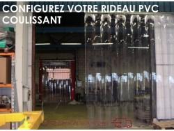 RIDEAU LANIERES PVC SOUPLES COULISSANT