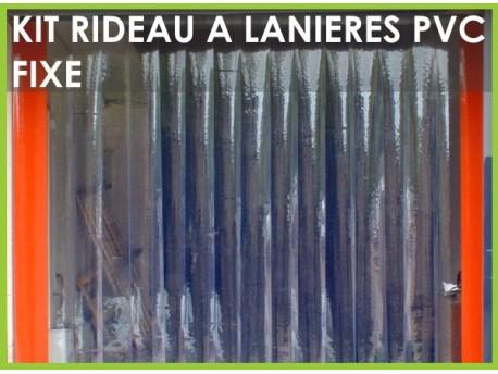 Rideau a lanieres pvc fixe ou decrochable - Rideau de porte exterieur plastique ...