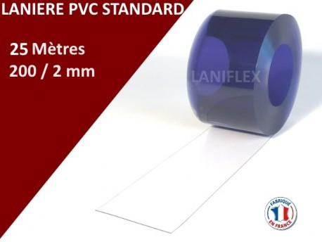 Rouleaux laniere pvc standard LANIERES PVC STANDARD 10m, 25m, 50m