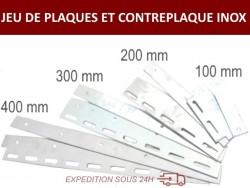 LOT DE JEUX DE PLAQUES ET CONTREPLAQUES INOX