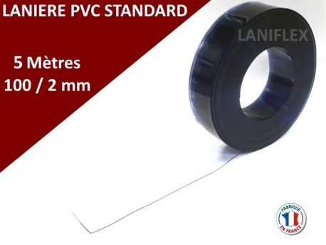 LANIERE PVC SOUPLE TRANSPARENTE STANDARD 5 Mètres
