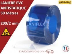 Rouleaux laniere PVC SPECIAL LANIERE PVC SPECIAL ANTISTATIQUE 50 mètres