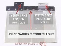 SYSTEME POUR RIDEAU FIXE (1200 mm)
