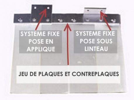 SYSTEME POUR RIDEAU FIXE 2 METRES (1950 mm)