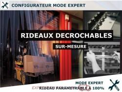 RIDEAU DECROCHABLE A LANIERES PVC SOUPLES - MODE EXPERT