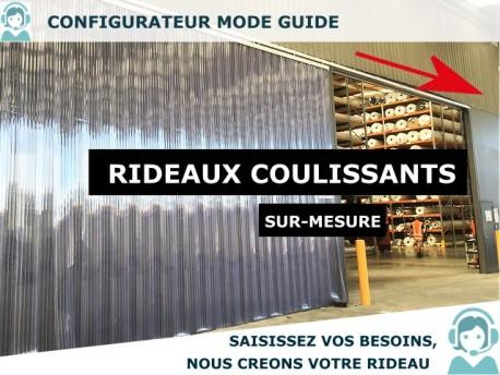 RIDEAU LANIERES PVC COULISSANT RIDEAU LANIERES PVC SOUPLES COULISSANT