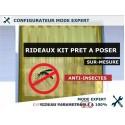 KIT RIDEAU A LANIERES PVC SOUPLES ANTI-INSECTES