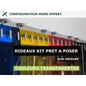 KIT RIDEAU A LANIÈRE PVC SOUPLE COLORÉ TRANSPARENT
