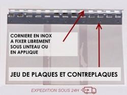 SYSTEME POUR RIDEAU DECROCHABLE INOX (984 mm)