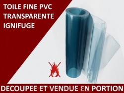 Toile de film PVC souple transparent ignifuge