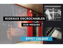 RIDEAUX LANIERES PVC SPECIAUX ET TECHNIQUES RIDEAU DECROCHABLE A LANIERES PVC SOUPLES TRANSLUCIDE