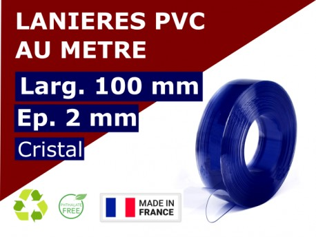 Accueil LAMELLE PVC SOUPLE: LARG.100 MM x EP.2 MM - DECOUPE PERSONNALISEE