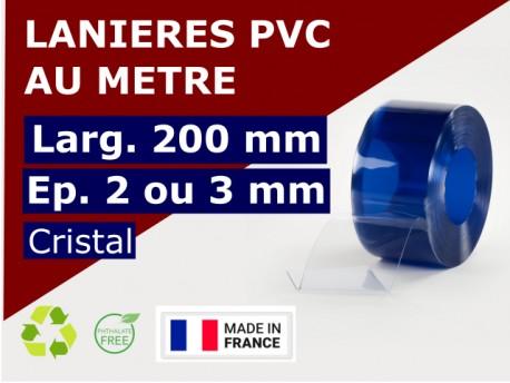 Accueil LANIERE PVC SOUPLE: LARG.200 MM x EP.2/3 MM - DECOUPE SUR-MESURE