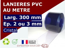 Accueil BANDE PVC SOUPLE : LARG.300 MM x EP. 2/3 MM - VENDU AU METRE