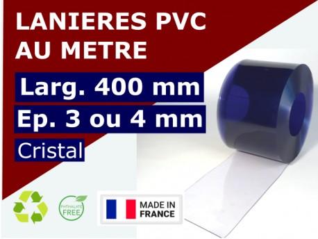 Accueil LAME PVC SOUPLE : LARG.400 MM x EP.3 OU 4 MM - VENDU AU METRE