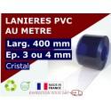 LAME PVC SOUPLE : LARG.400 MM x EP.3 OU 4 MM - VENDU AU METRE
