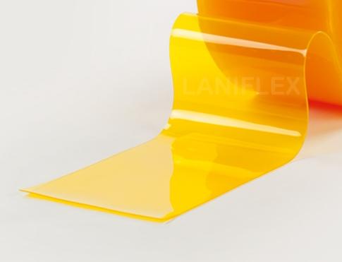 pvc souple transparent de couleur jaune
