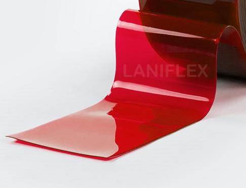 pvc souple transparent coloré rouge