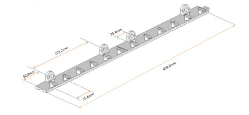 Dimensions et mesures précises de la fixation à lanières PVC