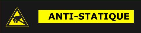 kit rideau pvc antistatique