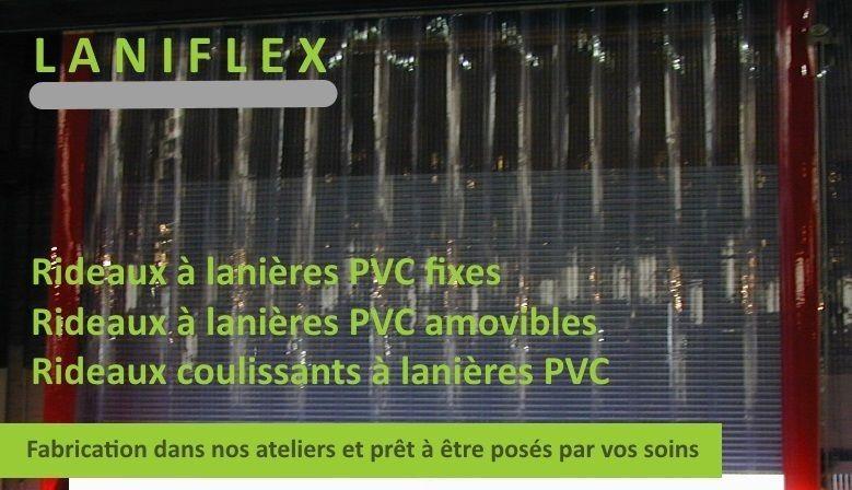 kit rideaux à lanières pvc et rideaux personnalisé
